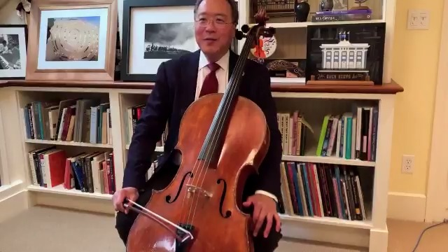 Renowned cellist and Harvard alum Yo-Yo Ma performed for the Class of #Harvard20 today