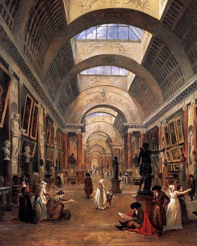 Grande Galerie of the Louvre by Hubert Robert, 1796
