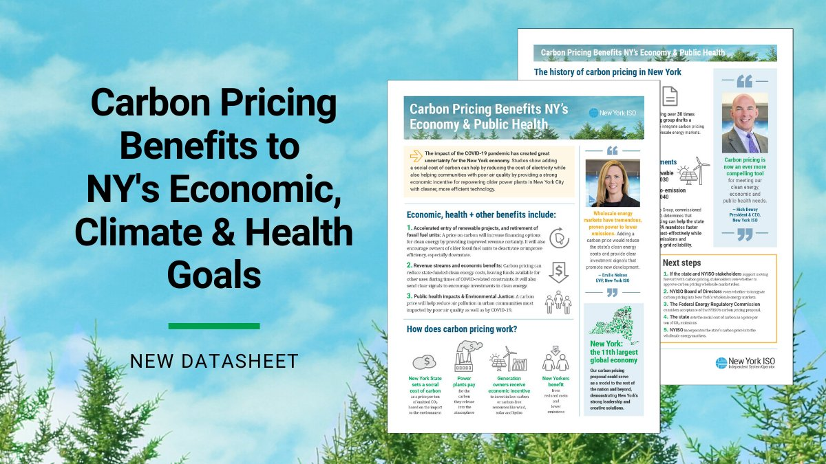#NewYork's economic, #climate and public health goals make #cleanenergy innovation more urgent than ever before. Our #carbonpricing proposal can help address all three, as reported by several studies. Find out how in this new datasheet: https://bit.ly/2X9dPkm pic.twitter.com/PVkvaPIrOV