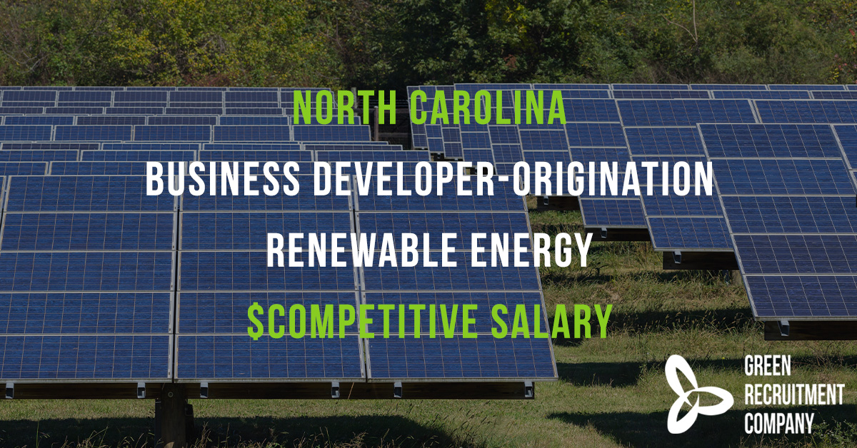 We have a role in #NorthCarolina for a #BusinessDevelopment professional experienced in #RenewableEnergy origination. Competitive salary. To apply please email Harry Davies; harry.davies@greenrecruitmentcompany.com #ConnectingGreenTalent #Careers #US #NC #Energy #CleanEnergy pic.twitter.com/Mo9Fc9WIYz