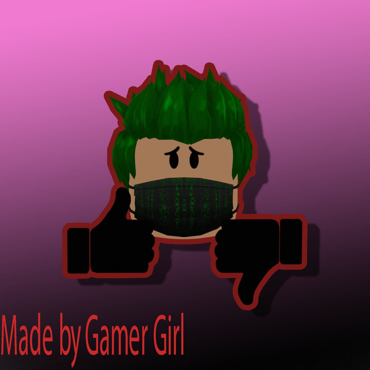 "GFX Giveaway!  To enter: Follow Retweet Like  When done say ""Done!"" or ""Done"" in comments!  Comment you're Roblox username and you might win!  Example (made by @GamerGi88009124)"
