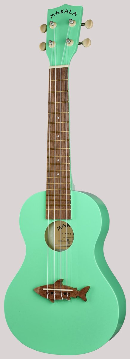 kala makala shark concert sea foam green concert ukulele