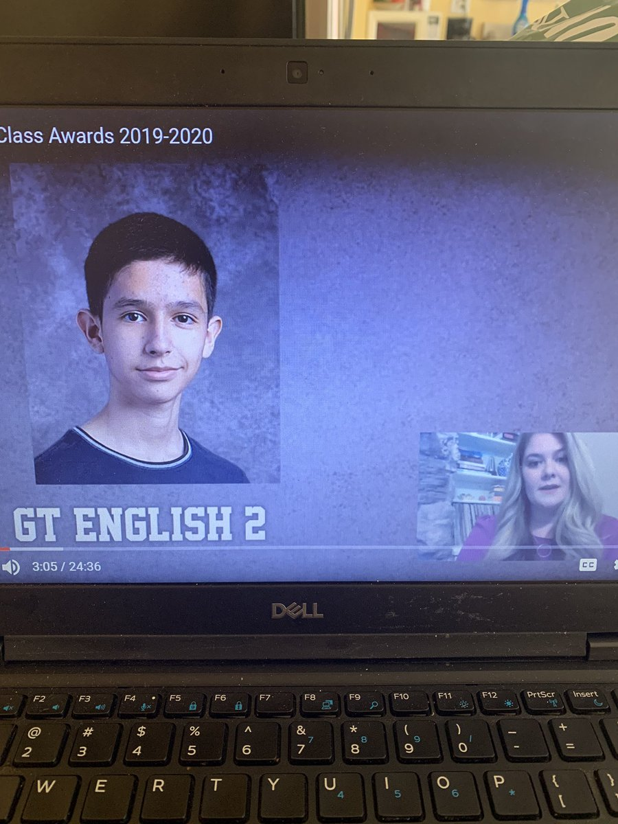 If you missed @IrvingHigh 's virtual awards, you missed my Top AP Students of the year: Isaac A for #APLang and Emily H. for #APLit. Both work relentlessly to improve their writing & their thoughtful commentary always elevates our class discussions. #keepitup #proudteacher <br>http://pic.twitter.com/YbDPf4te1H