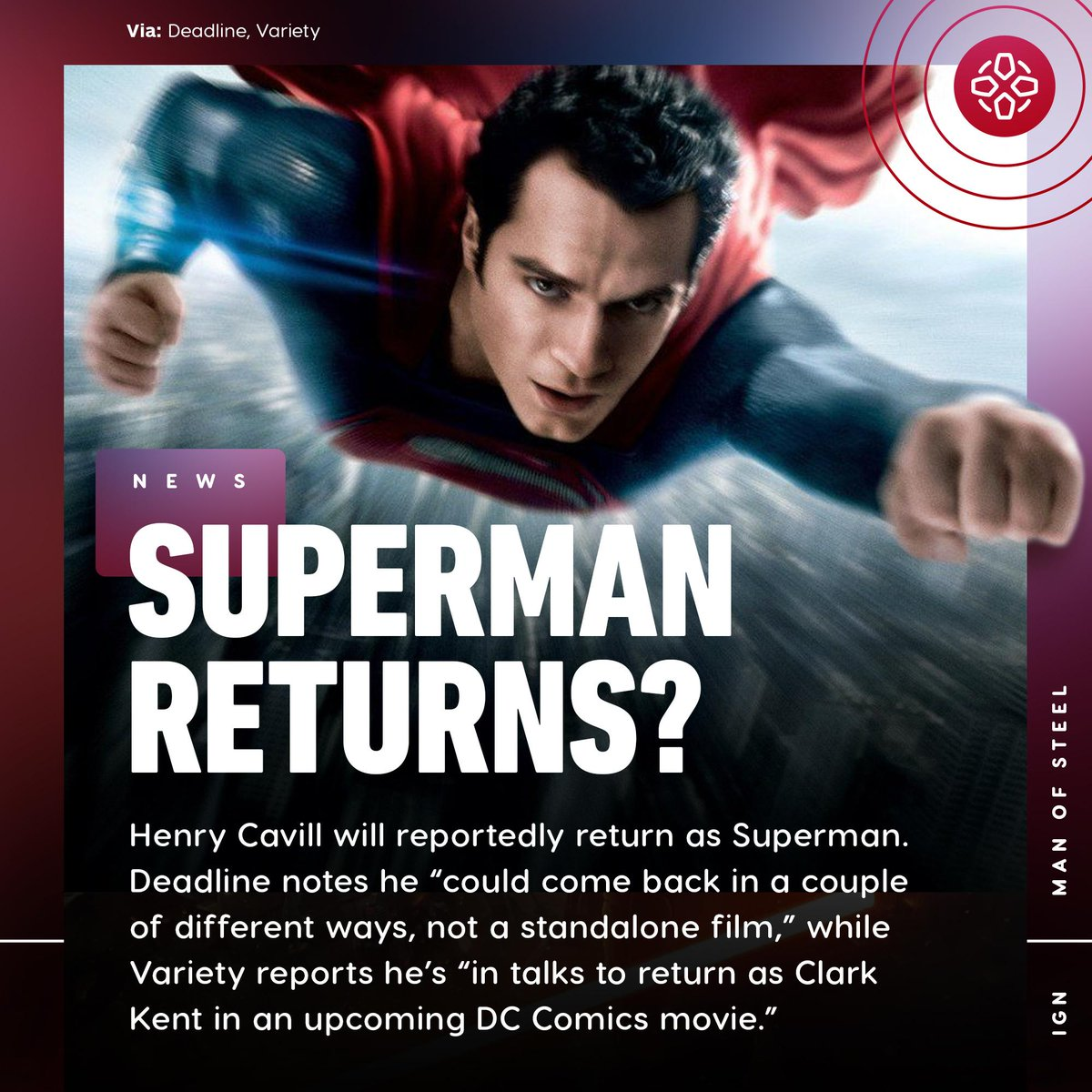 Henry Cavill isn't expected to reprise his role as Superman in Wonder Woman 1984, The Suicide Squad, or The Batman, but it's possible he'll appear in Shazam 2, Black Adam, or Aquaman 2.  https:// bit.ly/2yF5cok    <br>http://pic.twitter.com/O26S3K7zkH