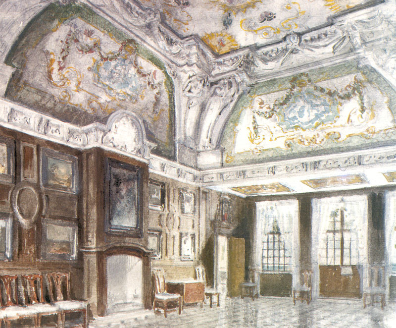 Peterhof Palace. Mon Plaisir. Medium room., 1942 #benois #artnouveau pic.twitter.com/W6aE6iX5IE