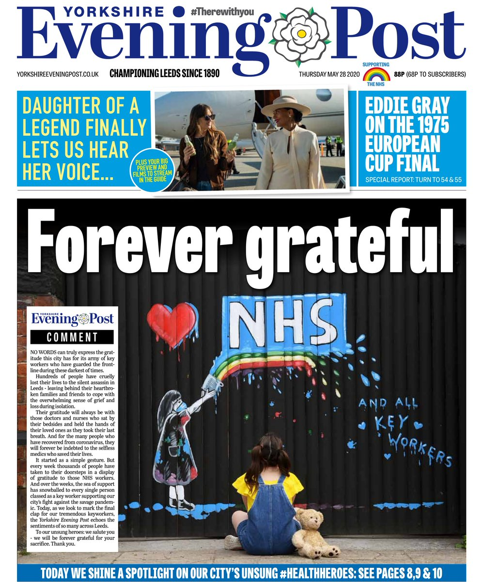 Today as we look to mark the final clap for our tremendous key workers the Yorkshire Evening Post echoes the sentiments of so many across Leeds. To our unsung heroes: we salute you - we will be forever grateful for your sacrifice. Thank you 👏👏👏👏👏👏👏