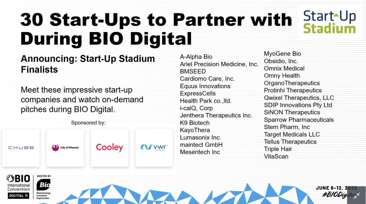 #DYK Start-Up Stadium is coming to #BIODigital? Explore 30 pitches from these companies! https://t.co/TAr4g7enl2 https://t.co/9nxsP66eD1