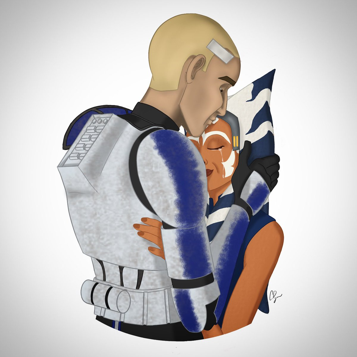 """""""There. I Fixed It."""" Thanks @starwars for crushing my soul. Anyway I know I'm not the greatest at digital drawing and art but I tried and that's what counts right? #CloneWars #captainrex #Ahsoka #rexsoka #clonewarsfinale #Order66 #fanart  Instagram link: https://t.co/E8lKWABdbe https://t.co/QpUpkBSpJr"""
