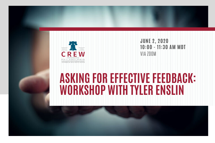 Workshop: Asking for Effective Feedback  @CREW_Philly has generously extended an invitation for our members to join their upcoming workshop! Register at https://bit.ly/3enDyvg   #edmontoncrew #crewphilly #creweducation #crewevents  #workshop #levelup #womenincre #cre #yegcrepic.twitter.com/EWLkuSibD9