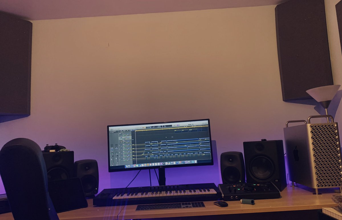 Just waiting for the acoustic treatment and the new desk.... and maybe a new screen.... #gamemusic #gameaudio #musicstudio #macpro #IndieGameDevpic.twitter.com/EOsVVtJCiR