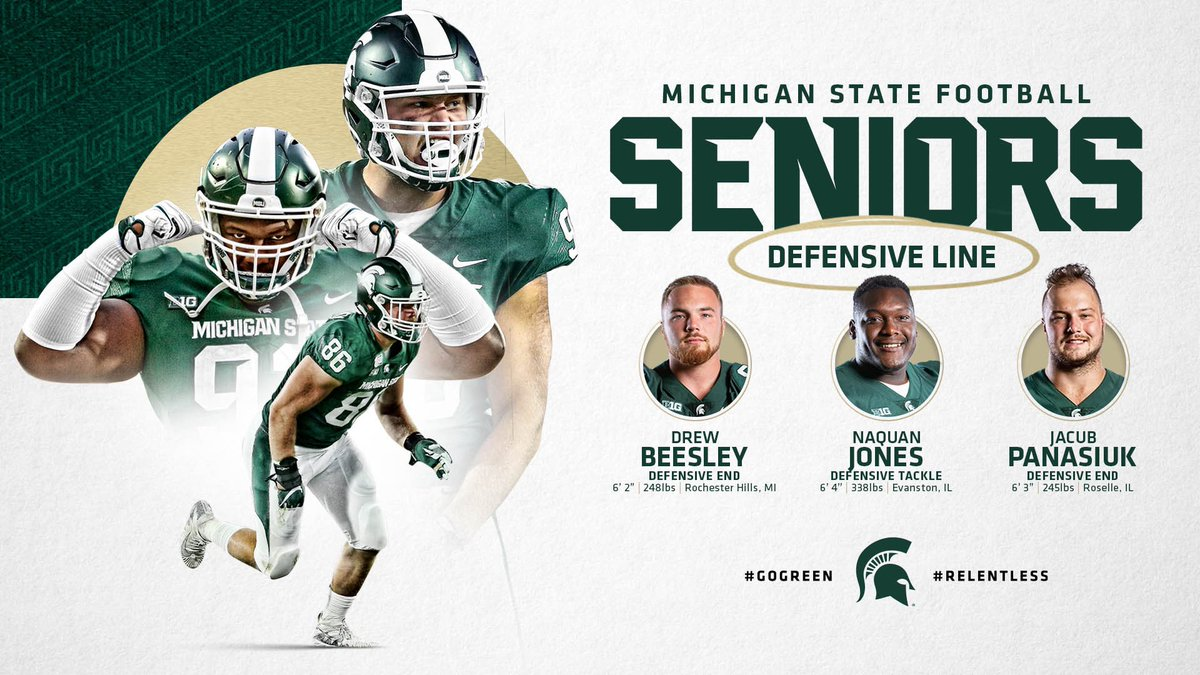 Spartan Seniors: Defensive Line These are three dudes you do not want to come across in the trenches 😤💪 #GoGreen