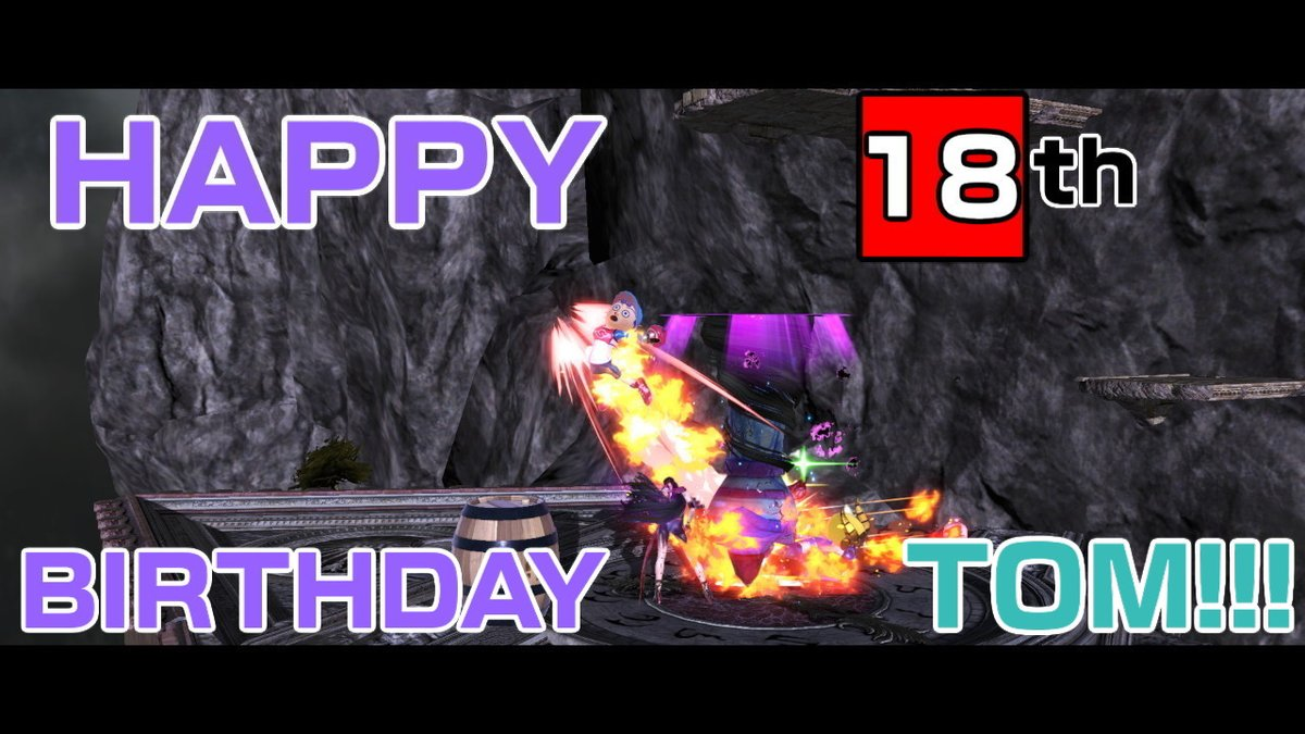 #SmashBrosUltimate #NintendoSwitch I know it's a bit early but today is my longtime friend @TomLegend101's 18th birthday!! Enjoy every...
