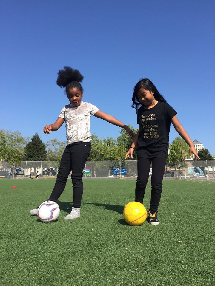 #ThrowbackThursday to a couple of besties practicing their #skills together. Our summer camps are officially happening! Can't wait to get on the field again!  #soccergirl #summercamp #soccerskills #soccerdrills #tbt @SoccerGrlProbs @lachicasports https://t.co/Sp0h3v1xpU