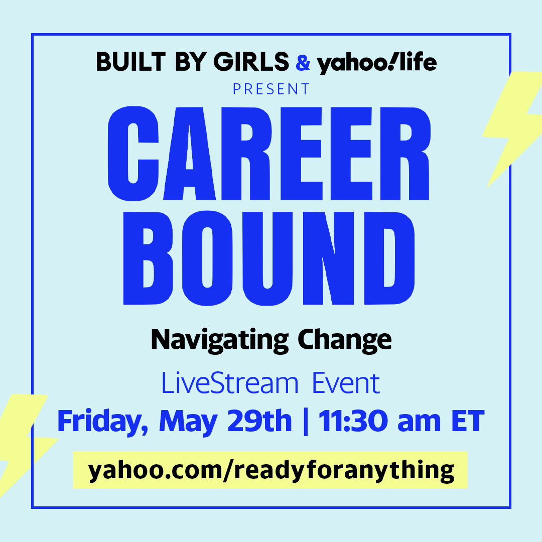 We know it's difficult managing graduation and all of the change that comes with it. Tomorrow, we're partnering with @BUILTBYGIRLS to give you tactical advice on how to handle it all. Watch tomorrow at 11:30a EST, here on @YahooLife. 📅