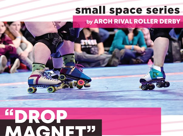 """It's another THURSDAY!! You know that means #Archsmallspaceseries, where our Arch Rival skaters teach you new skills!! """"Just because you can't go anywhere doesn't mean your feet can't move!"""" Today: Drop Magnet with @K_WOO810 #derbytwitter #skate #archrival #stl @frogmouth_inc https://t.co/jaNUH5styp"""