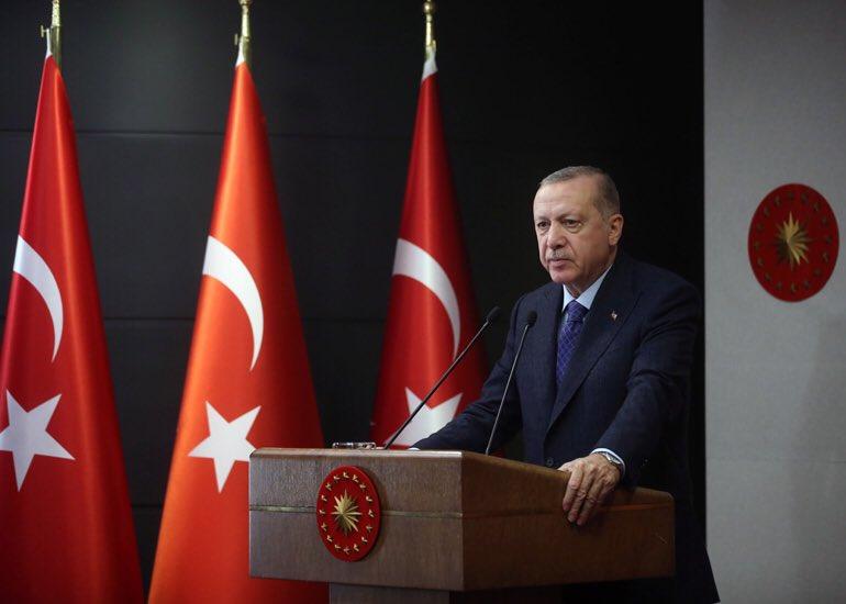 """""""Türkiyenin salgının önlenmesinde örnek alınan bir konuma gelmesi hepimizin ortak başarısıdır"""" tccb.gov.tr/haberler/410/1…"""