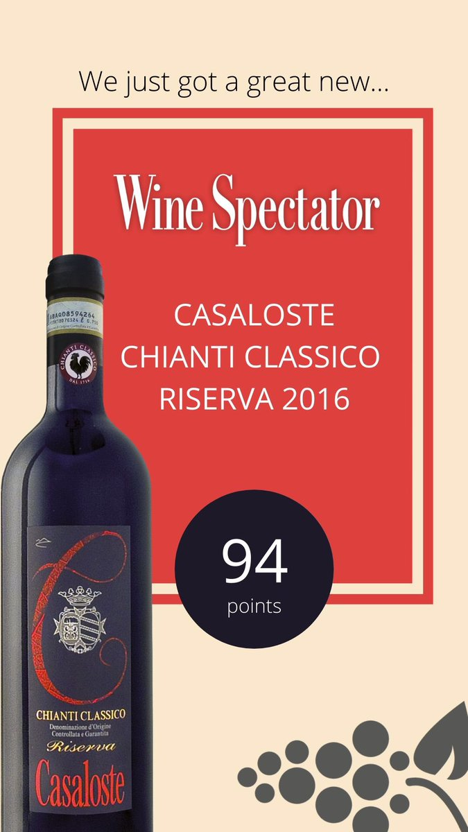 We are really happy to share the latest news from Wine Spectator. #celebration #happytime #satisfaction #chianticlassico #panzanoinchiantipic.twitter.com/5ogmyRfMXn