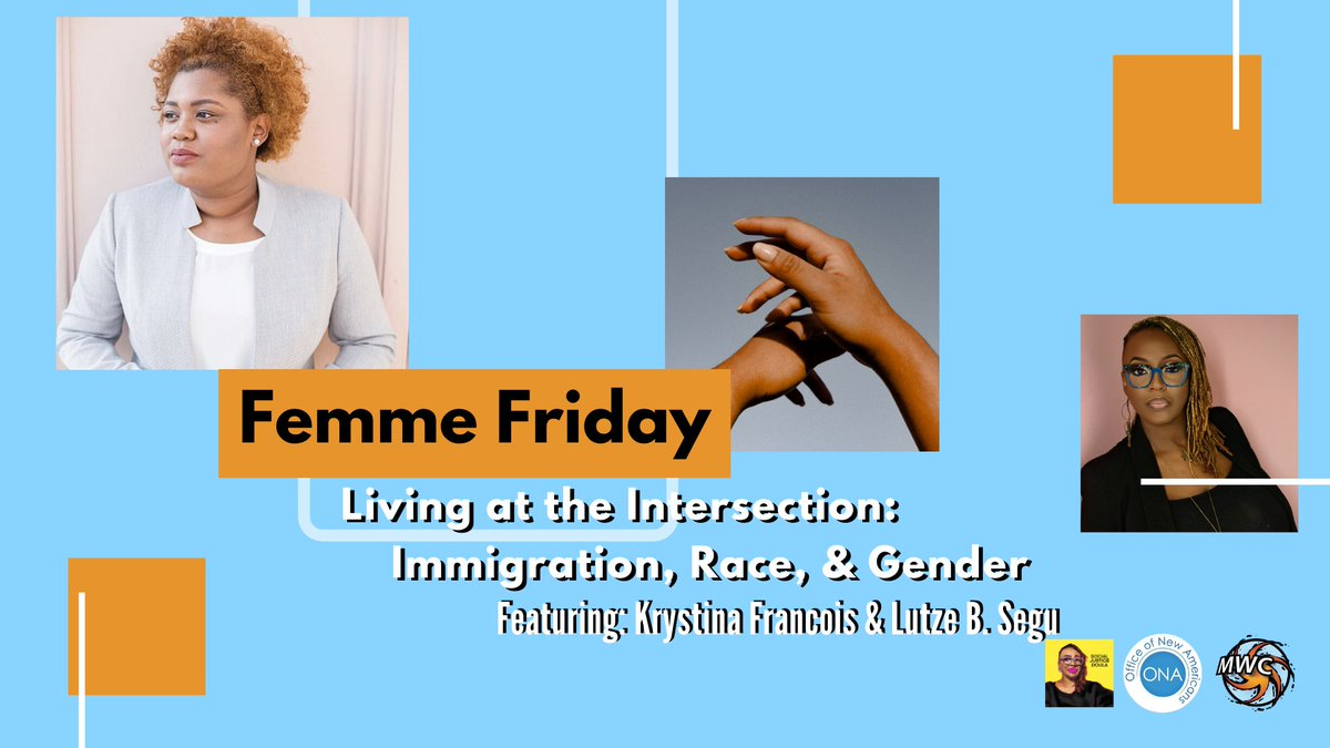 #FemmeFriday is a special edition chat featuring 2 thought leaders as they shine a light on the experience of black #immigrantwomen &femmes  You don't want to miss out on this discussion, be sure #RSVP via eventbrite! #FemmeAgenda #Immigration #BLM #blackwomen @ONAMIAMIDADEpic.twitter.com/R0as7lcKO1