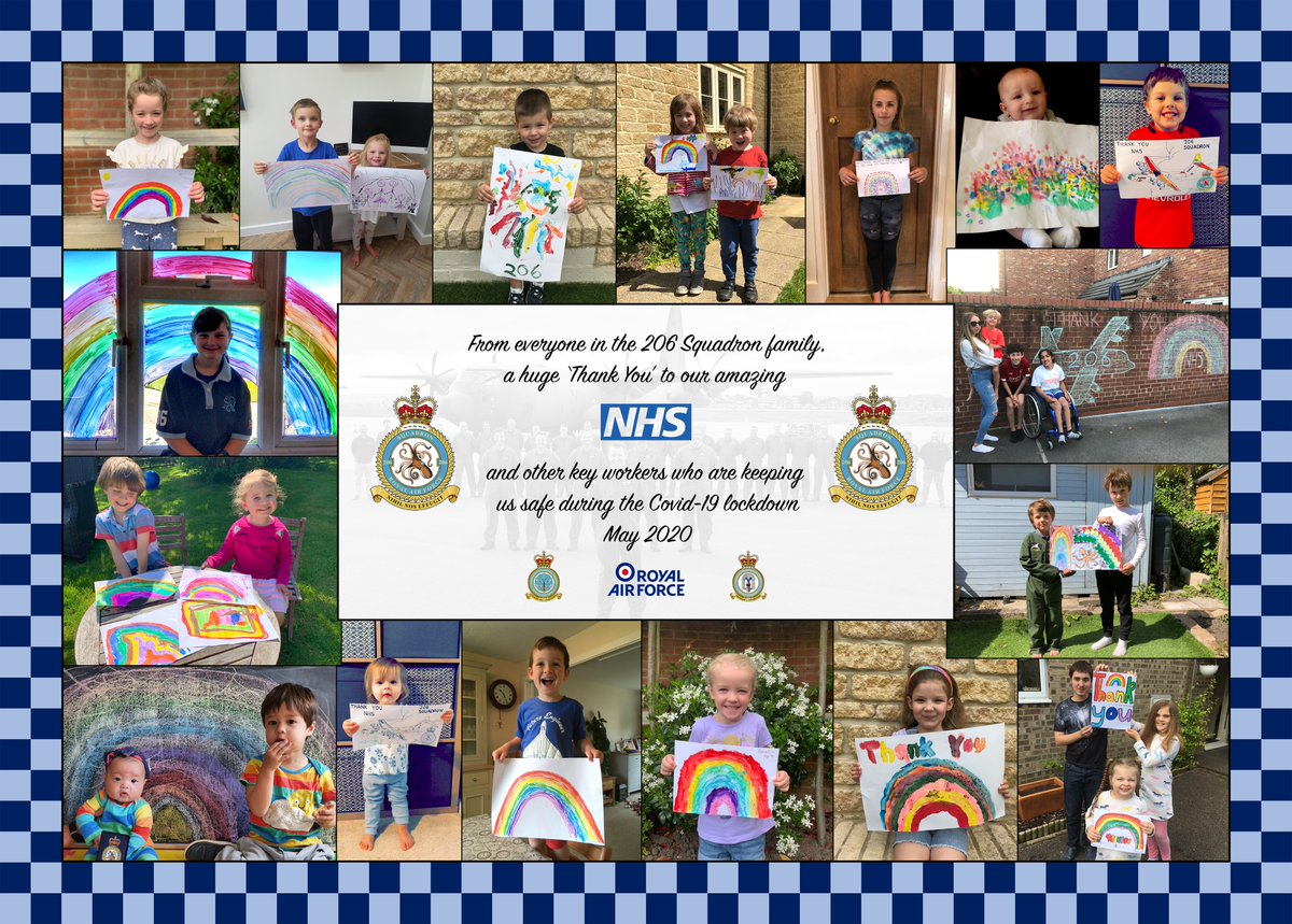 A very special message from the 206 Squadron Family, thanking all key workers, the NHS and everyone else involved in the fight against COVID-19.  #Clapforcarers #Inthistogether https://t.co/cjQI2P3I5R