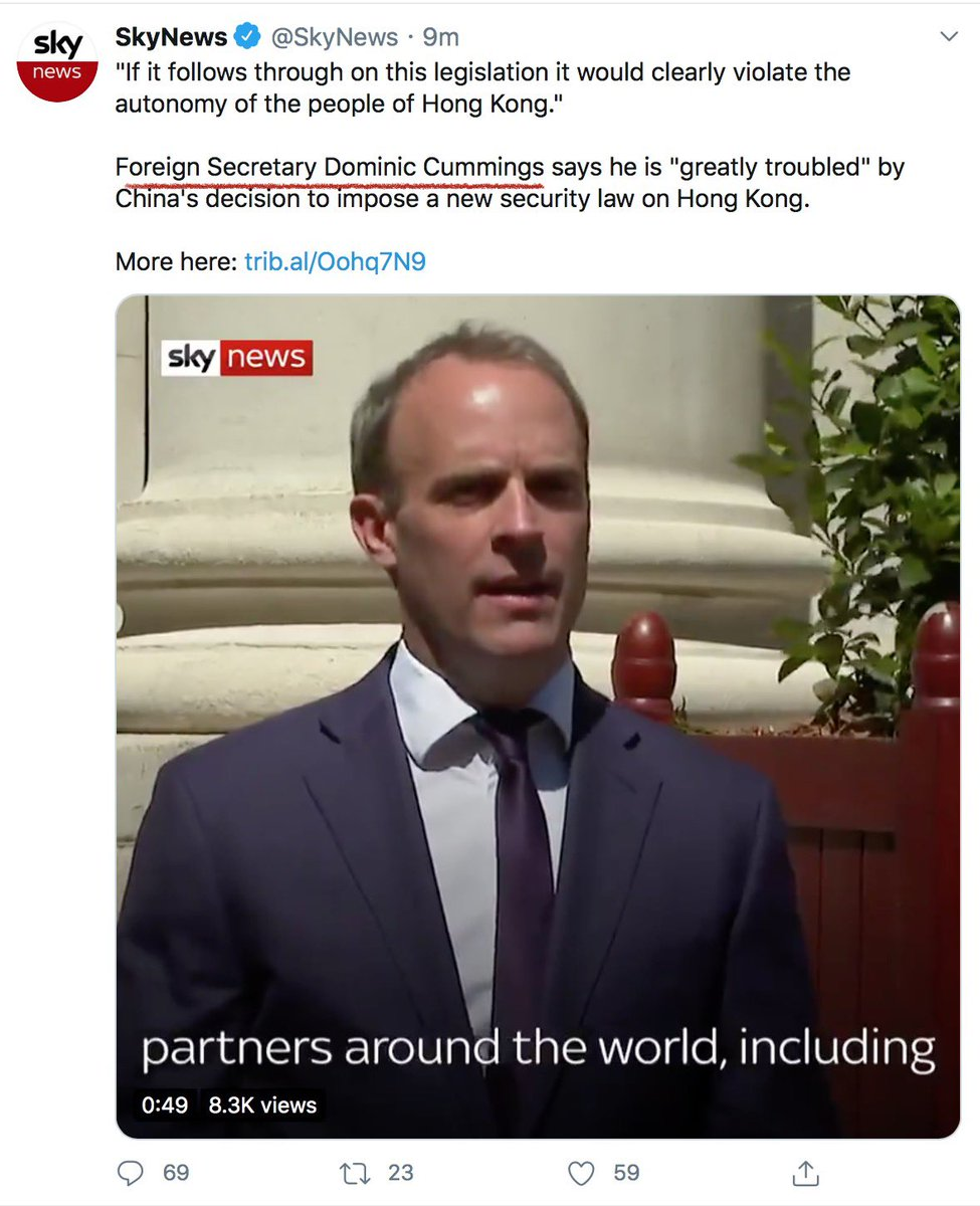 If anyone wants to know Dominic Cummings current location, he's living rent free in Sky News' head.