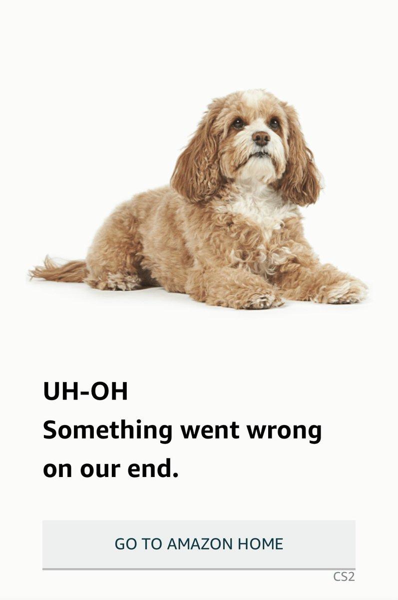 Is Amazon down rn? I've never seen this before.<br>http://pic.twitter.com/TiKOJvbz7g