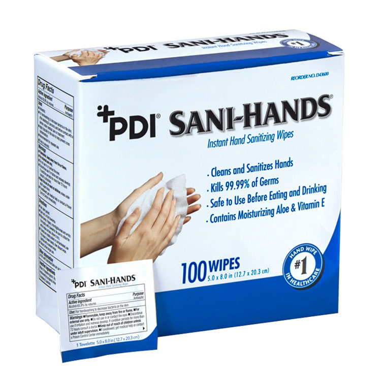 """New! #sanitizingwipes. PDI Sani-Hands Instant Hand Sanitizing Wipes, Size: 5"""" x 8"""", 100 Individually Wrapped Wipes per Box. Kills 99.99% of Germs. Limited supplies #handsanitizer #toiletpaper #bathtissue #masks #kn95 #faceshieldpic.twitter.com/u50L9CIAM4"""