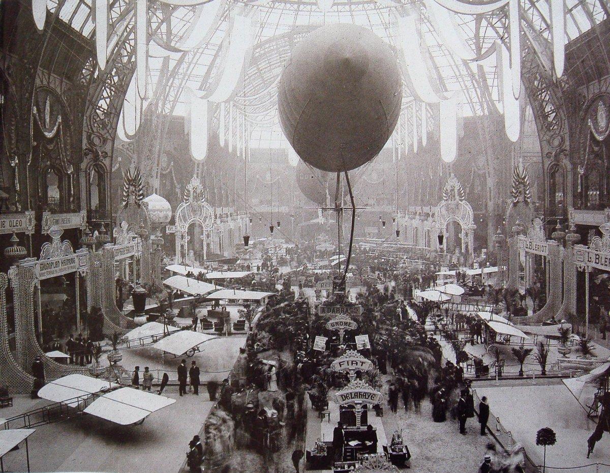 RT @halilbabilli: 1909 senesinde Paris'teki Grand Palais. Havacılık sergisi var.   Tam bir mucizeler zamanı. https://t.co/kH08gukri7