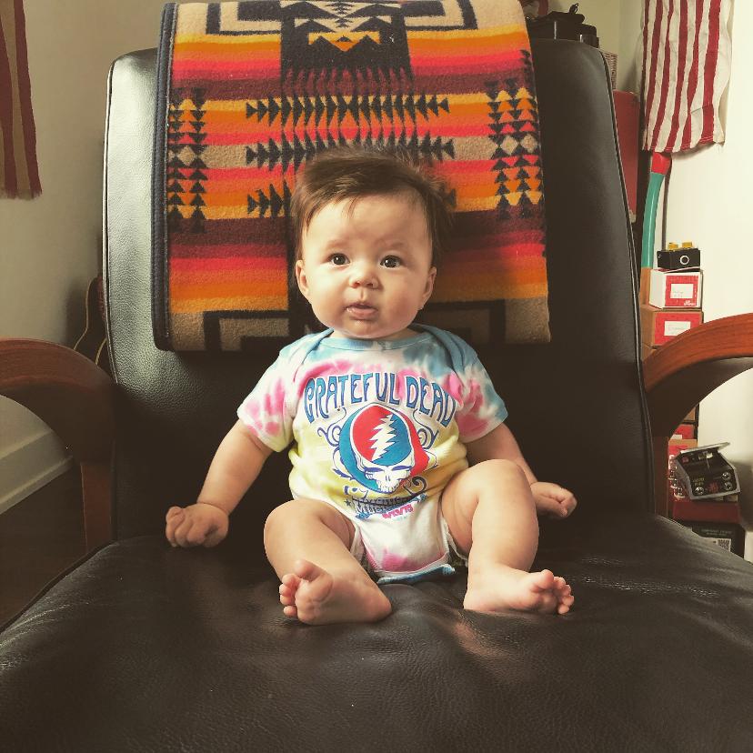 """Ramble on baby, settle down easy.""  Thanks for sharing, Instagram user @nikkirby.  #GratefulDead #NextGenHeads #DeadHeads #GratefulDeadBaby"