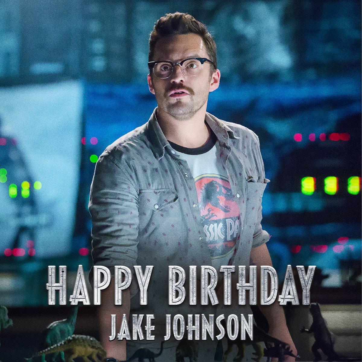 Happy birthday, Jake Johnson! Where'd you get the T-shirt?