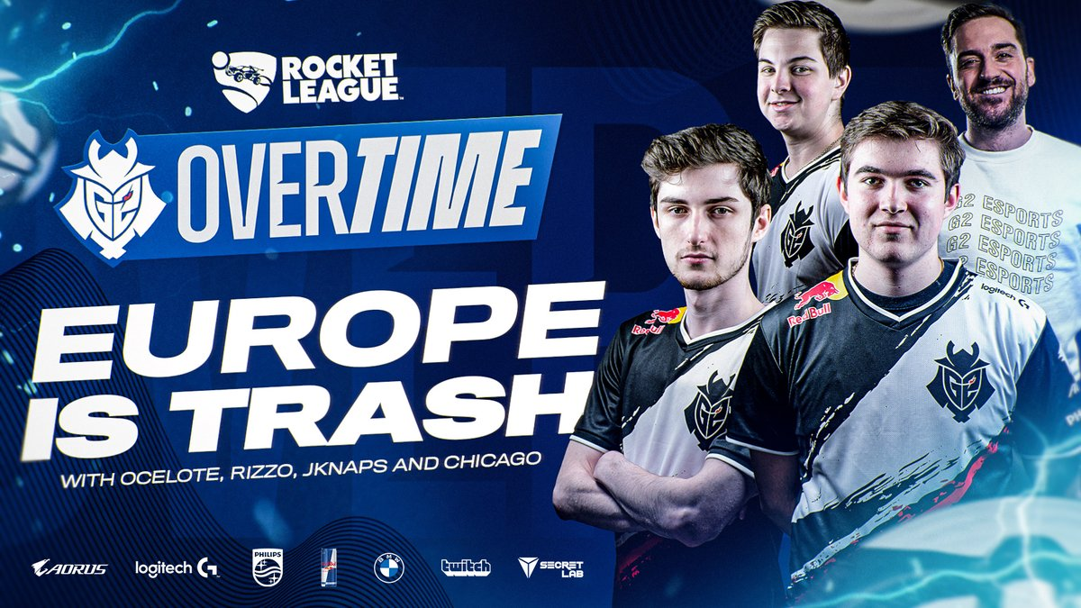 You heard it here first - EU 👏 IS 👏 TRASH 👏  In our first ever episode of Overtime, @CarlosR sits down with our Rocket League squad to talk about quarantine, the #RLCS, and more!  🎥 WATCH: https://t.co/jSAdjBuxOO https://t.co/WHZFGwWCIx