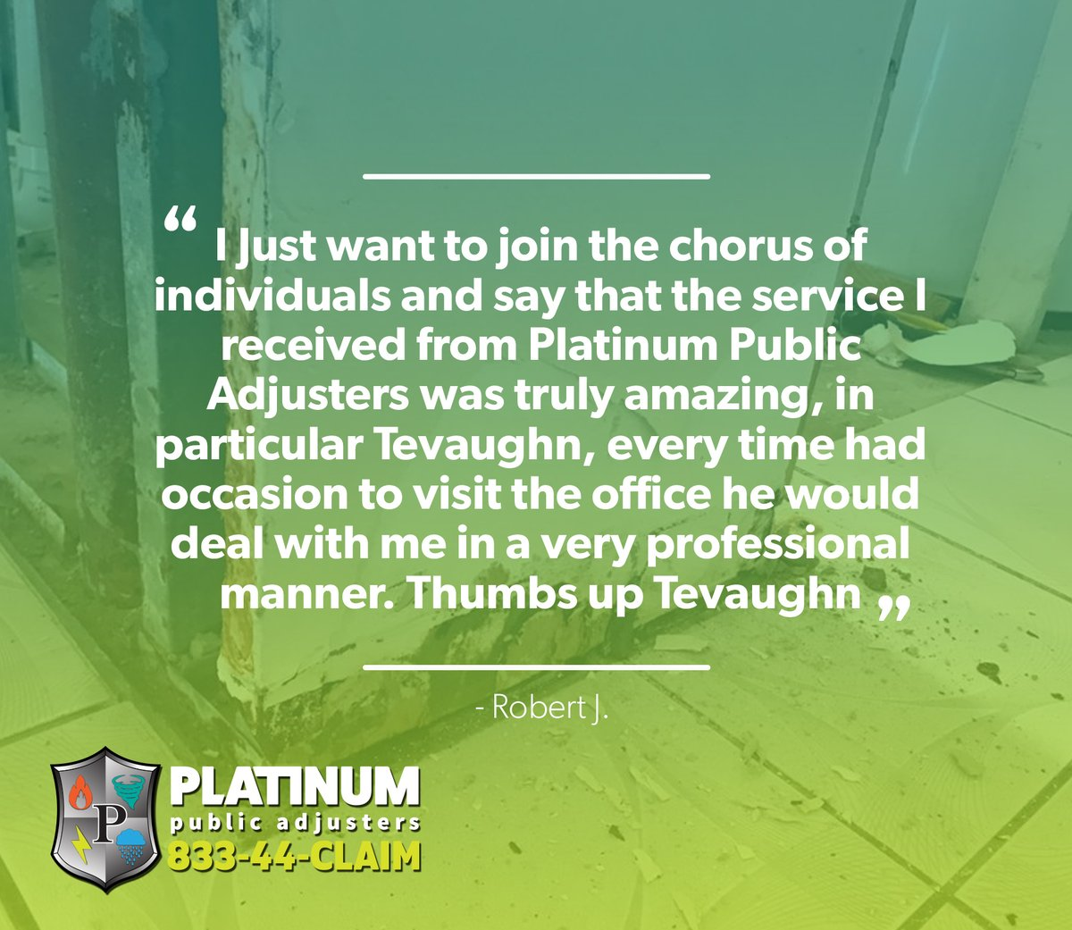 Thank you so much, Robert! http://www.ppaservices.com   PPAdjusters #Thursday #InsuranceClaims #PublicAdjusters #MiamiDade #PalmBeach #testimonials #reviewspic.twitter.com/h9HpI1FwuY