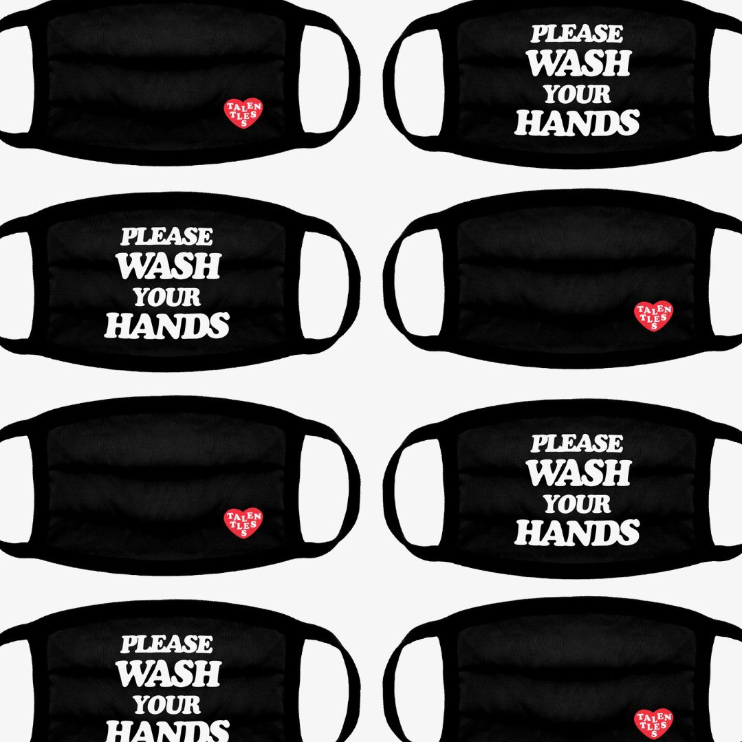 """Just added some more """"Please Wash Your Hands"""" Face Masks to the site. Still can't believe how fast they sold out last time 🙏🏽 talentless.co"""
