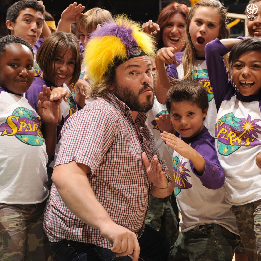 Name a cooler fan to have other than @jackblack, you can't😏  PS: Hope to see you at more games in the future😎  #TBT #GoSparks #LeadTheCharge https://t.co/AgGXKTTcKp