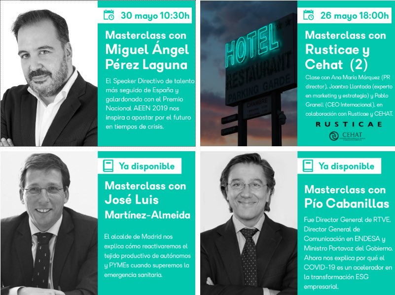 Un honor abrir el #Master del @ieavanzado este sábado 30 . Vamos a impulsar el nuevo #emprendimiento como nunca! Puedes apuntarte en https://lnkd.in/dYugEs7 #speaker #emprendedores #talent #business Descubre las #conferencias online más impactantes en http://miguelangelperezlaguna.compic.twitter.com/vyOPVKcbpr