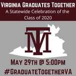 Image for the Tweet beginning: Virginia Graduates Together! Use the