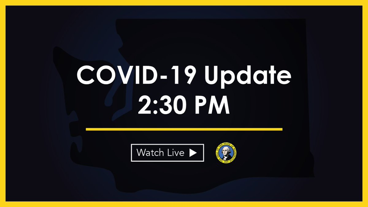 WATCH: Today, I'm giving an update on our long term care facility testing plan as well as additional protections for our farm workers. Tune in at 2:30 PM: tvw.org/watch/?eventID…