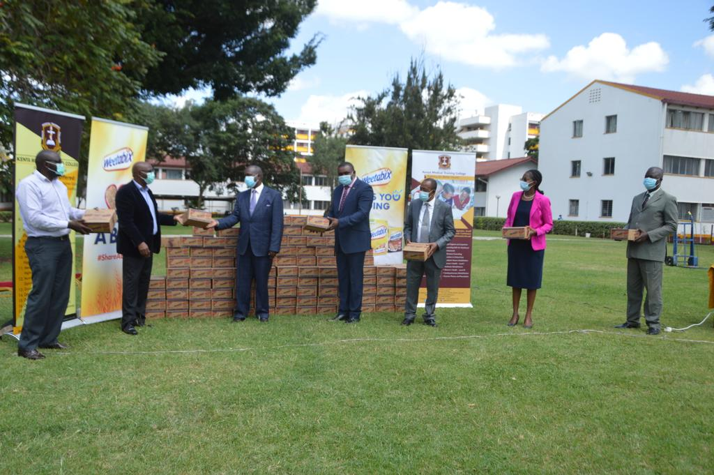 KMTC has today received a donation worth Kshs 500,000 from Weetabix East Africa in the ongoing fight against the Corona Virus in the Country.......https://t.co/LedfPcqsxr. @MOH_Kenya @WeetabixEA #KomeshaCorona https://t.co/rM6d4kVXQw