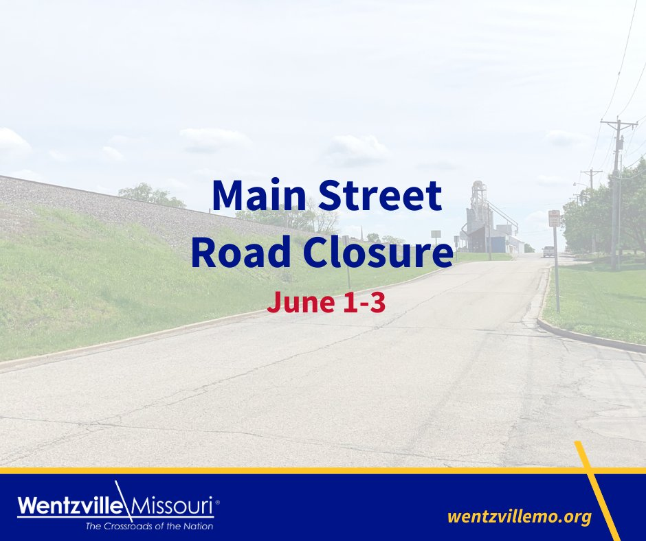Weather permitting, Main Street will be closed between Sunset and Howard drives, June 1-3 from 7 a.m. to 3:30 p.m. for a pipe replacement project. At least one lane will be open to traffic overnight.pic.twitter.com/ly2Gggz9ZT