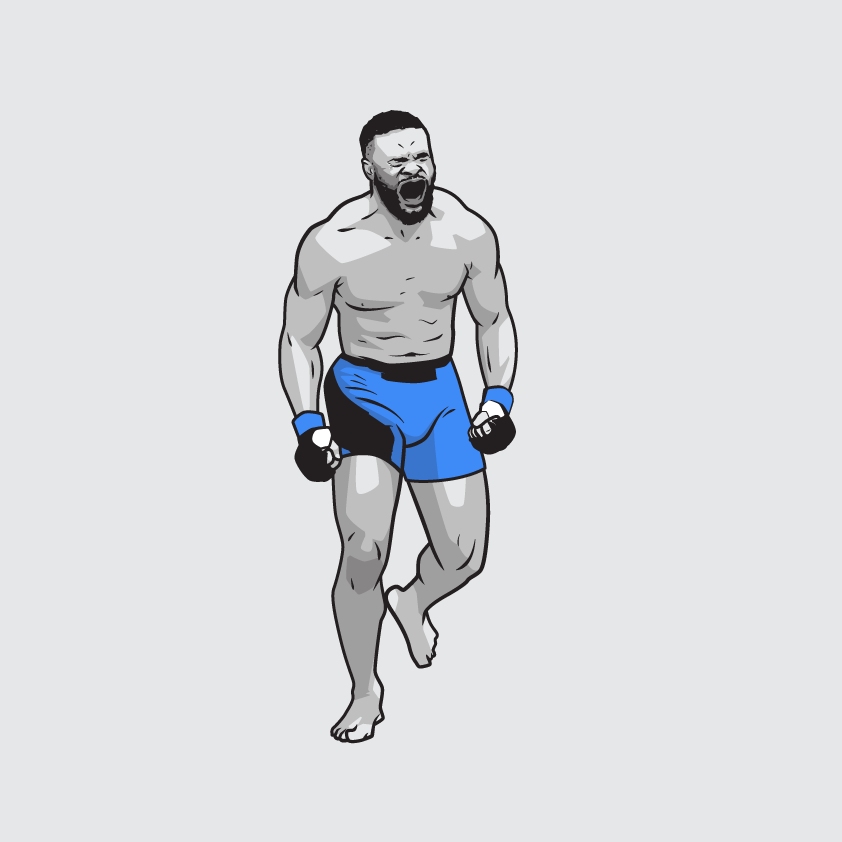 Working on a Woodley illustration 👊 #UFCFightNight #UFCApex