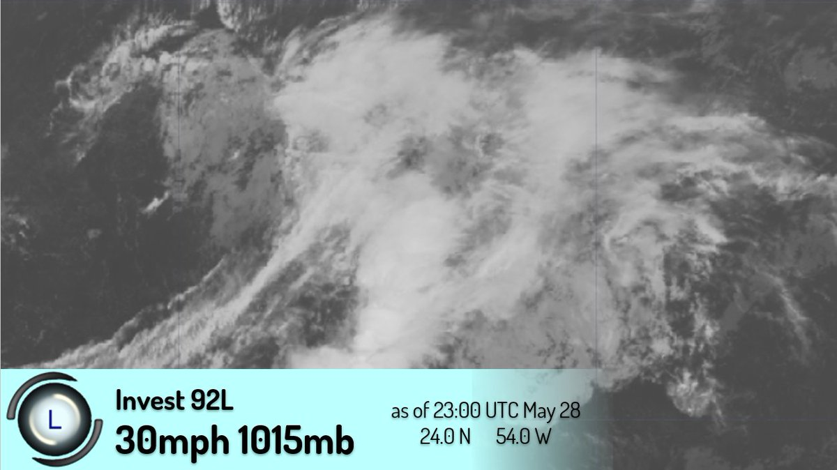 #92L has developed in the #Atlantic and could become another preseason system. pic.twitter.com/q83PN2oAqV