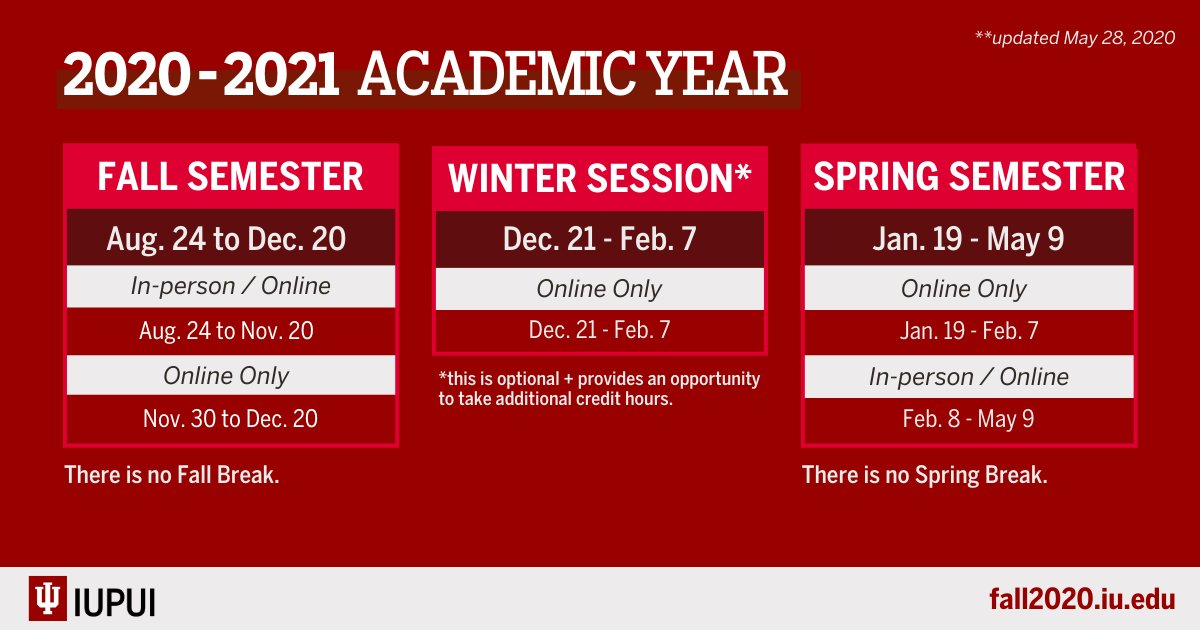 Iu Academic Calendar Fall 2021 Photos