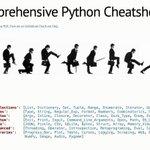 Image for the Tweet beginning: #Python Brain Teasers + Cheatsheet.