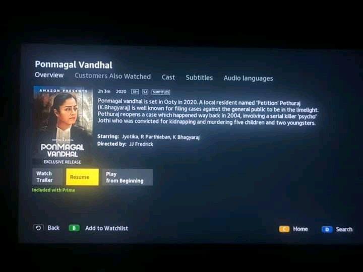 #PonmagalVandhalOnPrime  @Suriya_offl @2D_ENTPVTLTD   Superb movie worth watching with family pic.twitter.com/Z6gUHJyPBP