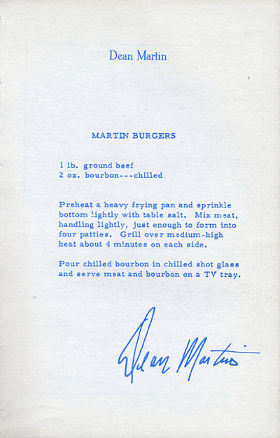 "Enjoy Dean Martin's hamburger recipe as featured in the ""The Celebrity Cookbook"" (1966) for #NationalHamburgerDay today!  #NationalBurgerDay #CelebrityRecipes #DeanMartin #Cooking #Recipes #Burgers #Cookout #BBQ #Hamburgers #Grilling #GroundBeef #Bourbon pic.twitter.com/9uu6qekU3r"