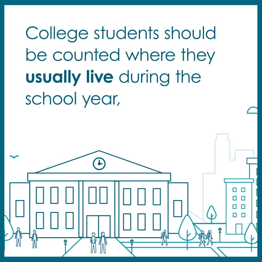 Image for the Tweet beginning: College students should be counted
