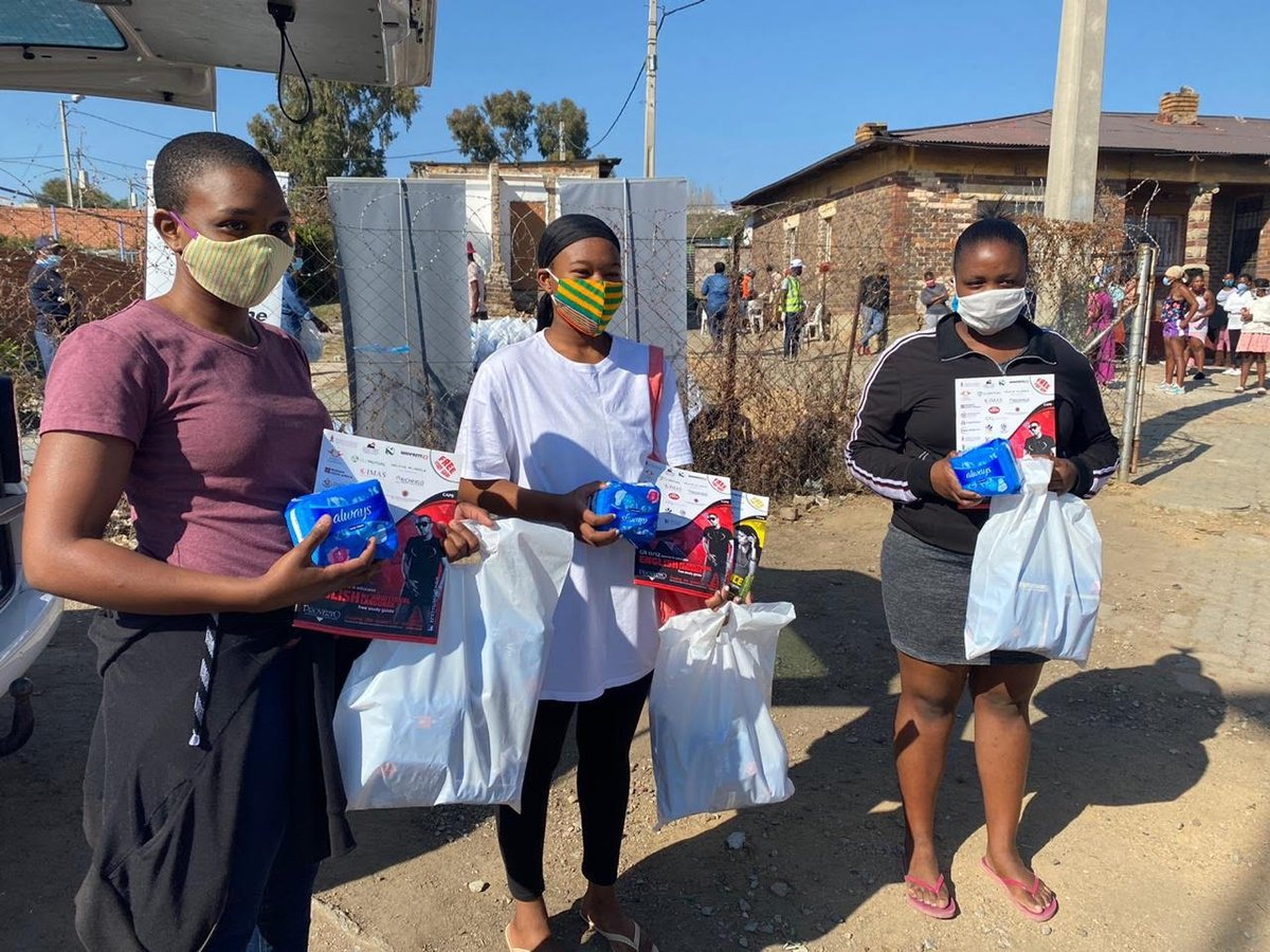 """The @FP_Foundation provides sanitary pads and puberty education courses for girls in South Africa. """"We aim to break the silence and change social norms around menstruation,"""" says the program's founder Eric Mlambo."""