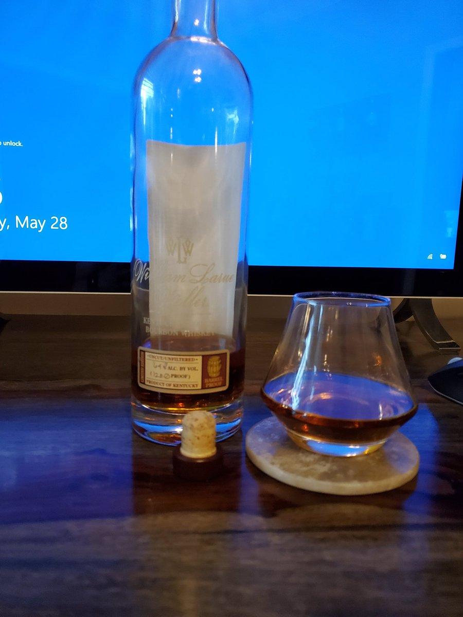 Still working but after 5 so why not. 2019 WLW. Cheers  #whiskey pic.twitter.com/lhziAuDzp5