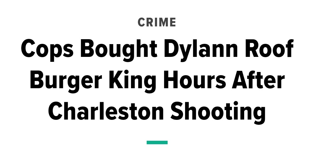 Yassin Adam On Twitter White Supremacist Dylan Roof Kills Nine Black People At A Church And Officers Buy Him Burger King After Taking Him Into Custody George Floyd Allegedly Attempted To Pay