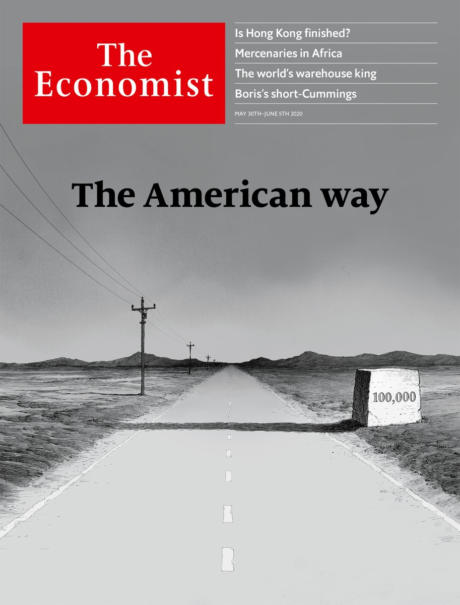 On the cover of @TheEconomist: the shadow of 100,000 deaths