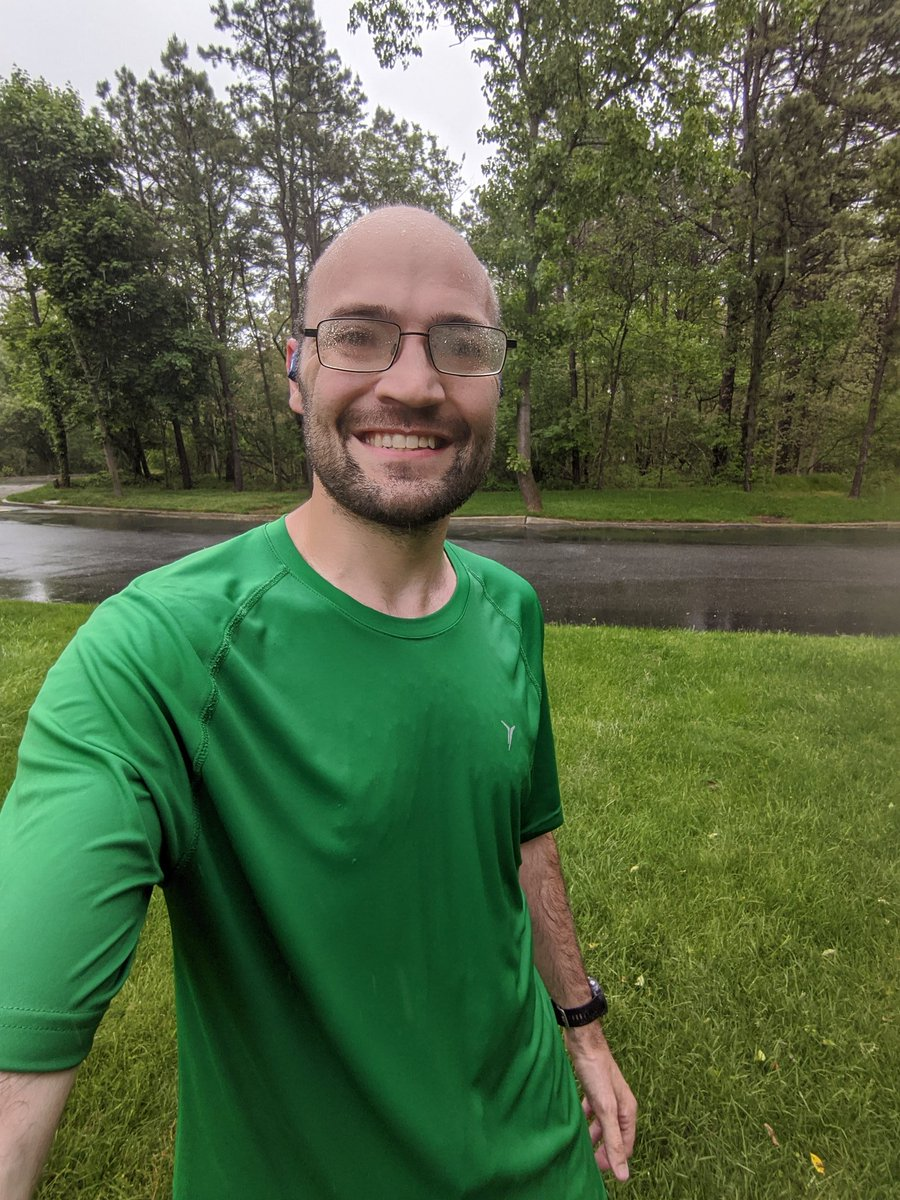 I got in 6 really good miles today. I did not beat out the rain however. It started to mist in the first mile and started to rain in mile 3. lol. I stuck it out and feel really good that I got in this run. #Running #Fitness #Training #BibChat #RunChat #ShokzSquad <br>http://pic.twitter.com/VoC5jutuWi